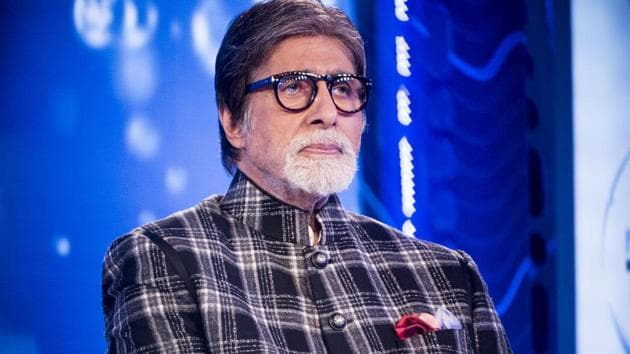 Bollywood actor Amitabh Bachchan during the launch of Mission Paani campaign at JW Marriott, Juhu.(Satyabrata Tripathy/HT Photo)