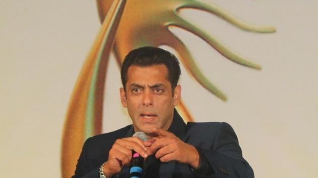 Salman Khan at the Indian International Film Awards (IIFA) 2019 press conference in Mumbai, on Sep 5, 2019.(IANS)