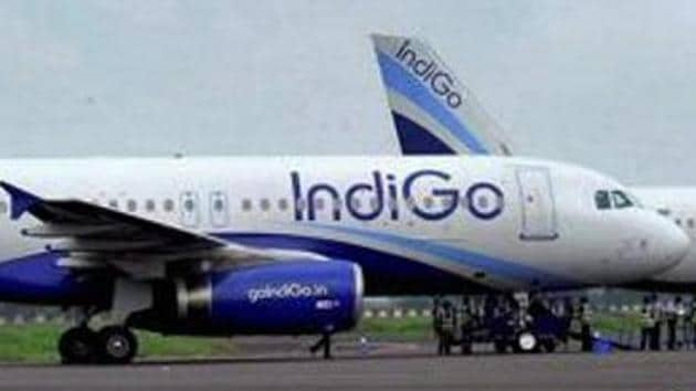 Aviation regulator DGCA on Thursday suspended two IndiGo pilots for two months for flying a Hyderabad-Vijaywada flight on July 24 with the tail support attached(PTI)