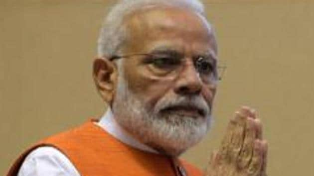 Prime Minister Modi will be at the Indian Space Research Organisation (ISRO) headquarters in Bengaluru on Saturday to watch the final descent of Chandrayaan-2 on the Moon's surface.(Mohd Zakir/HT PHOTO)