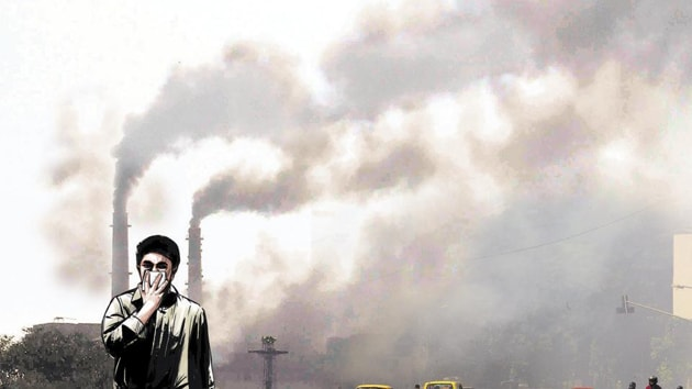 Under the new legislation, the violation of PUC (pollution under control) norm invites a penalty of Rs 10,000 as against the previous rate of Rs 1,000 on the first violation and Rs 2,000 for the second one.(HT image)