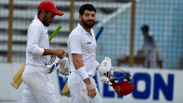 Ibrahim Zadran, Asghar Afghan pile more misery on Bangladesh.(Twitter/Afghanistan Cricket Council.)