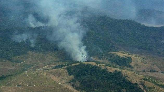 The world's biggest rainforest, which has been hit by nearly 90,000 fires this year, plays a vital role in the regulation of the world's climate and water resources.(AP photo)