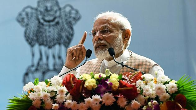 Prime Minister Narendra Modi on Saturday said Rs 3.5 lakh crore will be spent in the next five years under the newly formed Jal Jeevan Mission, which aims to provide piped water to all rural households by 2024.(ANI photo)