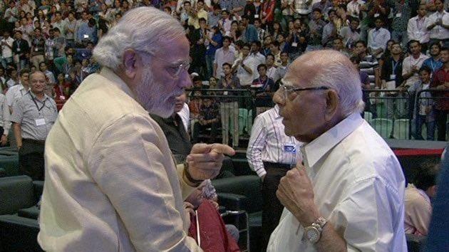 Prime Minister Narenddra Modi with Ram Jethmalani(Narendra Modi/Twitter)