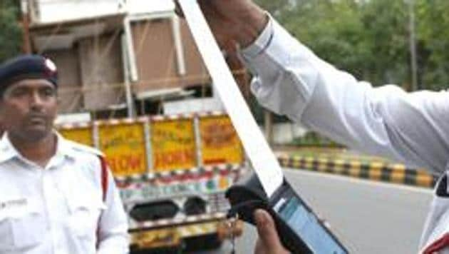 A truck driver in Odisha's Sambalpur district was fine a whopping Rs 86,500 for violating several traffic rules last week.(HT file photo)