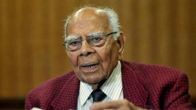 Ram Jethmalani, one of India's most well-known lawyers, died on Sunday morning.(PTI File Photo)