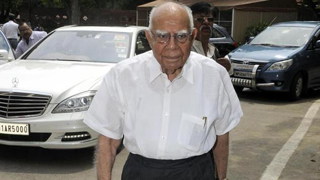 Ram Jethmalani list of clients read like a who's who.(HT PHOTO)