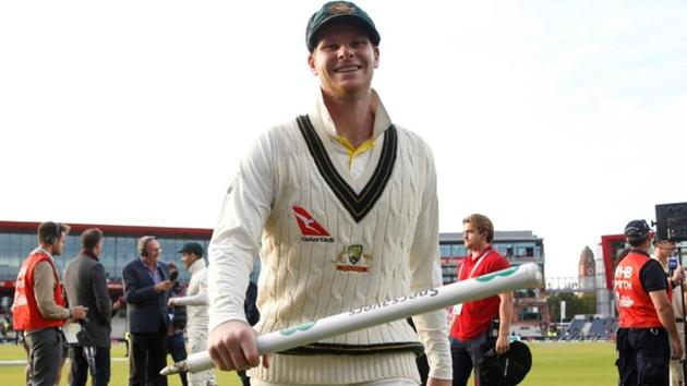 Australia's Steve Smith celebrates wining the match and retaining the Ashes.(Action Images via Reuters)