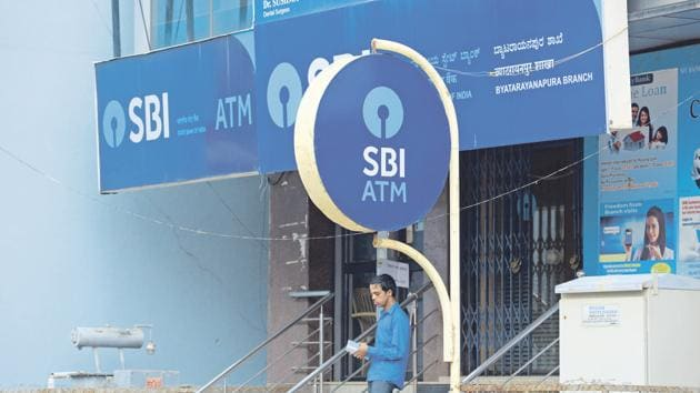 New logo/ monogram of SBI, State Bank of India. For stock shoot happened on 12.06.17, pic by hemant Mishra/mint