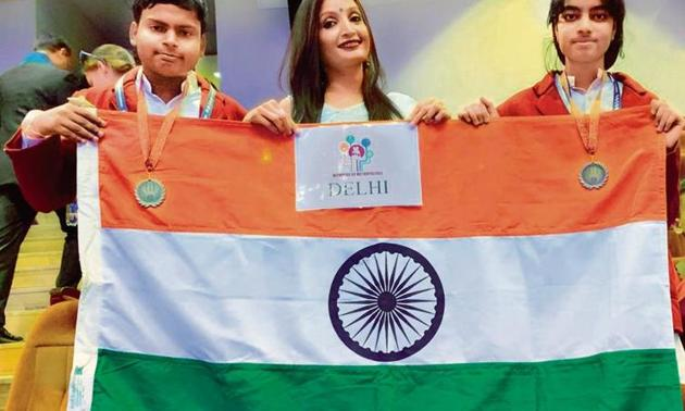 Satyam and Harshita Rao won the bronze in chemistry at the Moscow Olympiad.(Sourced)