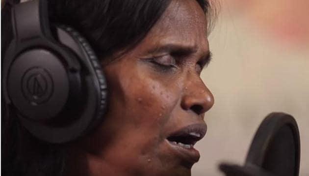 Ranu Mondal in a still from the Teri Meri Kahani song teaser.