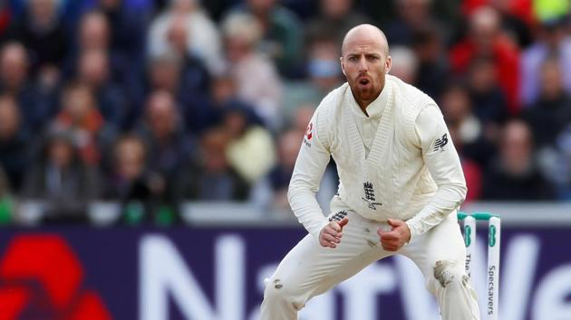 England cricketer Jack Leach.(Reuters)