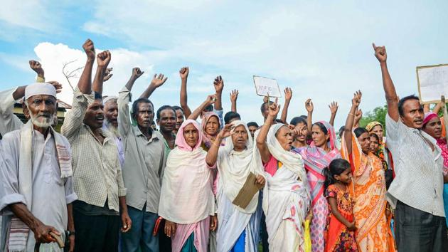The petition filed by Brahmaputra Valley Civil Society makes out a case for allowing people not included in the NRC to produce new legacy documents before Foreigners Tribunals.(PTI)