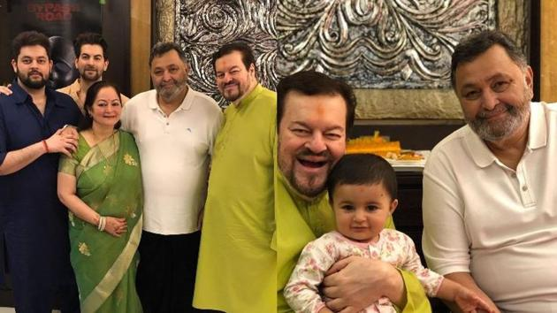 Rishi Kapoor visited Neil Nitin Mukesh and his family on Wednesday.