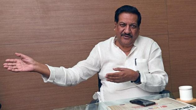 The Congress and NCP will fight about 123-125 seats each, former Maharashtra chief minister Prithviraj Chavan said.(Pratham Gokhale/HT Photo)