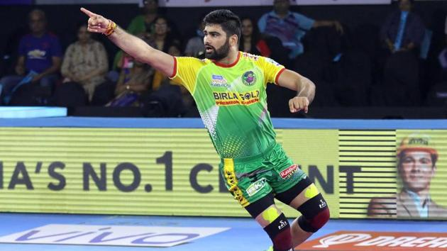 A file photo of Pardeep Narwal.(PKL)