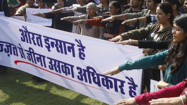 File photo of a rally to fight for freedom and dignity of women.(HT File Photo)