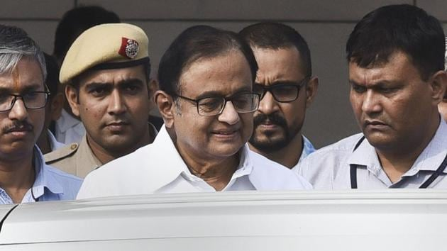 Congress leader P Chidambaram's lawyers have also withdrawn their second plea challenging his judicial custody.(PTI file photo)