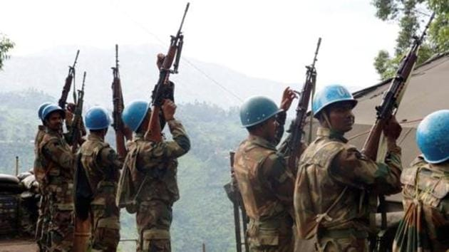 An Army officer posted in the India contingent in the United Nations Peacekeeping Mission in the Democratic Republic of Congo has been missing since Saturday .(HT Photo)