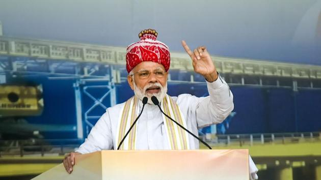 Prime Minister Narendra Modi, while addressing a public meeting in Jharkhand, sent a strong message on corruption.(PTI)