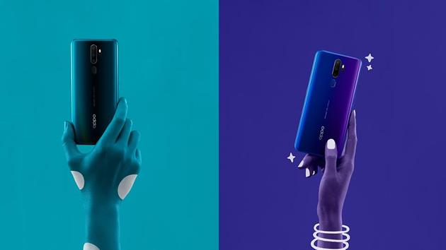 The OPPO A9 2020 is available in two stunning colours – Marine Green and Space Purple.(OPPO)
