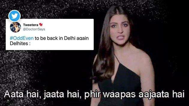 The hashtag #OddEven is a trending topic on Twitter.
