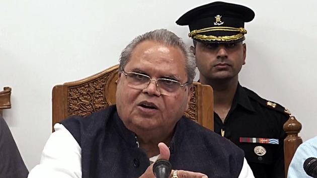 Jammu and Kashmir governor Satya Pal Malik has ordered a probe by the Anti-Corruption Bureau (ACB) into alleged instances of cornering high-value prime land in Jammu and Srinagar(ANI Photo)