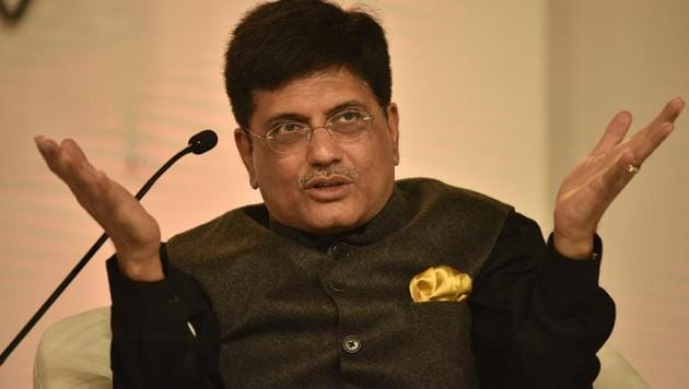 Railways minister Piyush Goyal, a key backroom strategist of the ruling Bharatiya Janata Party, lamented that the primary message that he was trying to deliver was lost in the rush to highlight his mistake.(RAJ K RAJ/HT PHOTO)