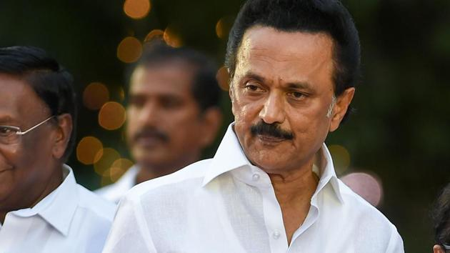 DMK President MK Stalin says he was asked several questions when he revealed his name during a visit to Russia in 1989.(PTI)