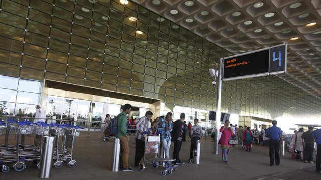 An airport official said the drill is conducted once a year and involves the Central Industrial Security Force, fire department, Airports Authority of India, local police and airport security officials.(HT image)