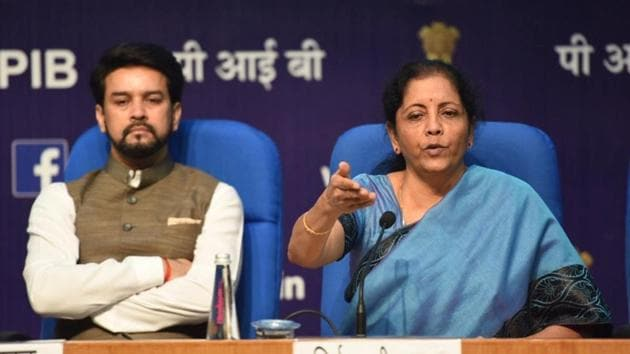 Finance minister Nirmala Sitharaman announced a slew of measures to boost growth in the housing sector on September 14, Saturday(HT Photo)