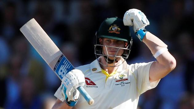 Australia cricketer Steve Smith reacts during second day of 5th Ashes Test.(Action Images via Reuters)