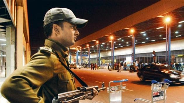 As of now, of the 100 operational airports, 61 are covered by the CISF while the rest are covered by local police.(HT Photo)