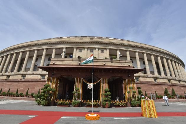 No decision has been taken on whether the Parliament House, a heritage structure, will be revamped or a new structure built(Sanjeev Verma/ Hindustan Times)