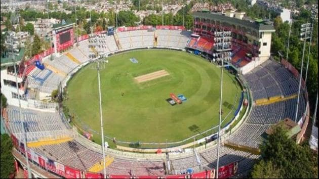 A file photo of Mohali's IS Bindra PCA Stadium.(Twitter)