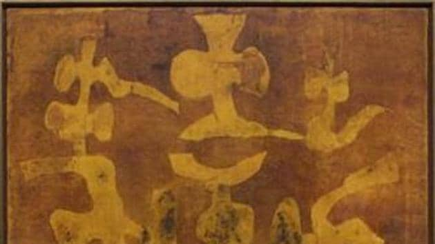 An untitled 1978 work by master artist VS Gaitonde (Representational)(HT File)