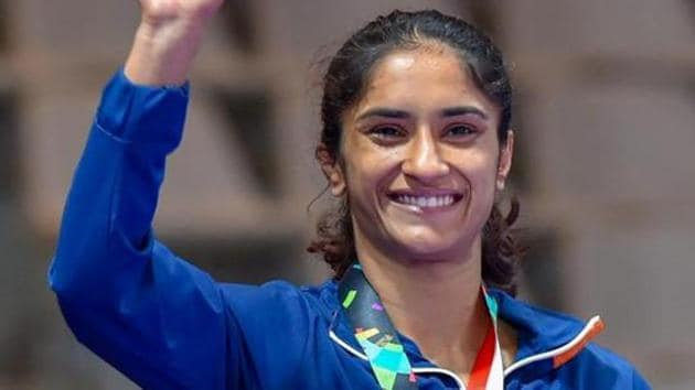 A file photo of Vinesh Phogat.(PTI)