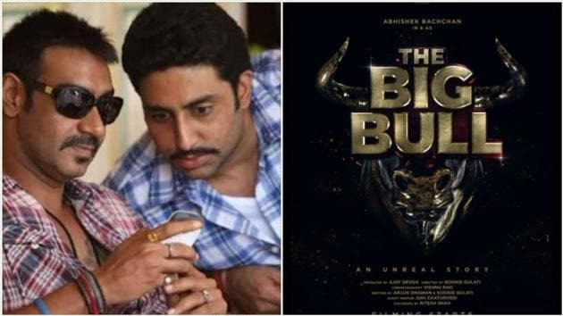 Ajay Devgn's production The Big Bull stars Abhishek Bachchan in the lead.