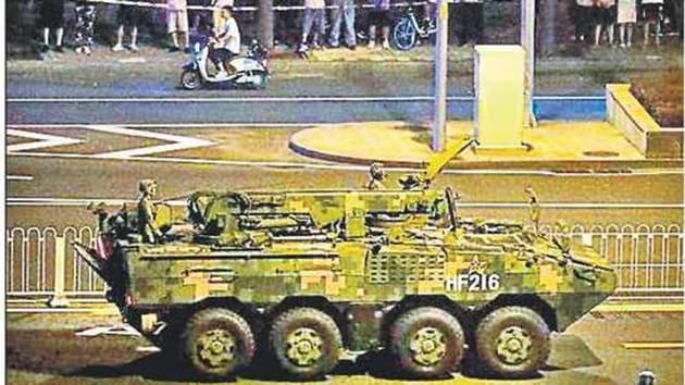 New weaponry are set to be unveiled at the October 1 military parade in China(HT Photo)