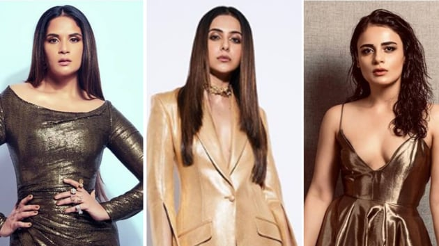 We were mighty disappointed when actors Radhika Apte, Radhika Madan, Richa Chadha and Rakul Preet Singh tried their hands at the upcoming trend, and failed to hit the mark.(Instagram)