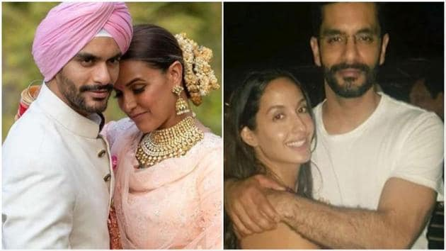 Angad Bedi married Neha Dhupia in May last year, shortly after breaking up with Nora Fatehi.