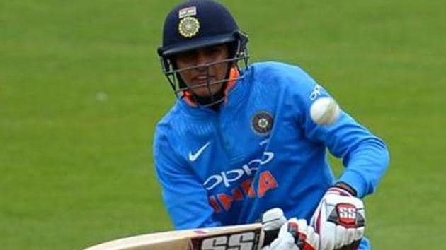 Shubman Gill of India in action.(Getty Images)