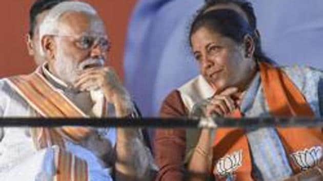 Prime Minister Narendra Modi and Union finance minister Nirmala Sitharaman.(PTI Photo)