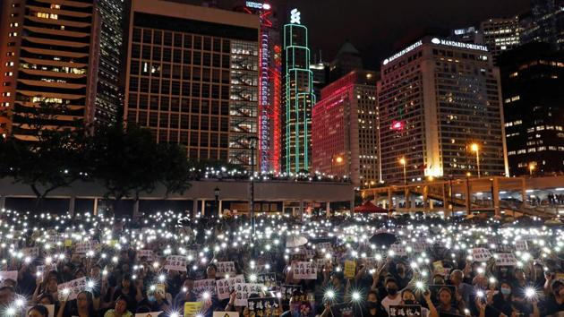 Hong Kong leader Carrie Lam said Tuesday that international public relations firms have turned down the government's requests to help restore the city's reputation after months of pro-democracy protests.(REUTERS)