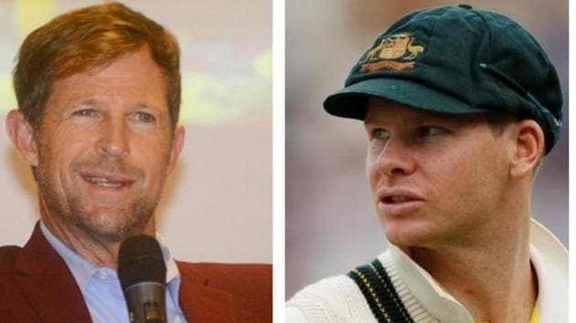 Jonty Rhodes and Steve Smith.(Getty/HT Collage)
