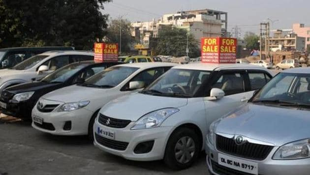 Vehicle registrations in the national capital have declined in the first eight months of 2019.(Parveen Kumar/Hindustan Times)