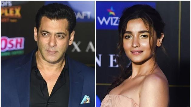 Salman Khan and Alia Bhatt at the IIFA awards 2019.
