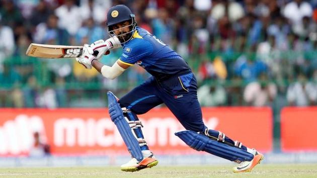 Sri Lanka's Lahiru Thirimanne plays a shot.(REUTERS)