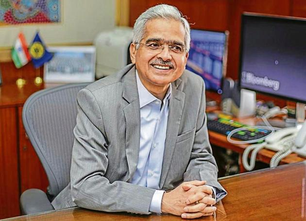 Shaktikanta Das, governor of the Reserve Bank of India (RBI), reacts during an interview in Mumbai(Bloomberg)